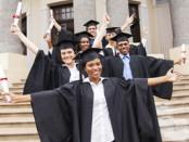 group of university students