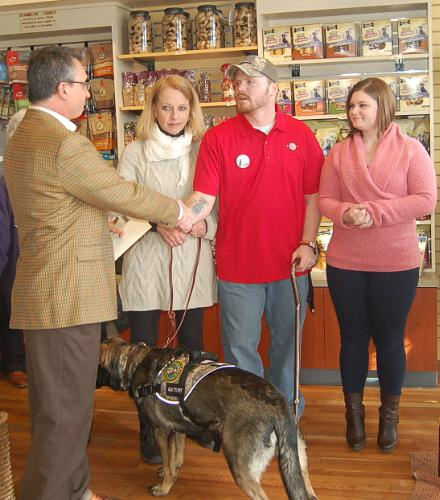 Three Dog Bakery Handshake