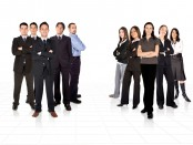 CRJJFD two young business teams divided into men and women