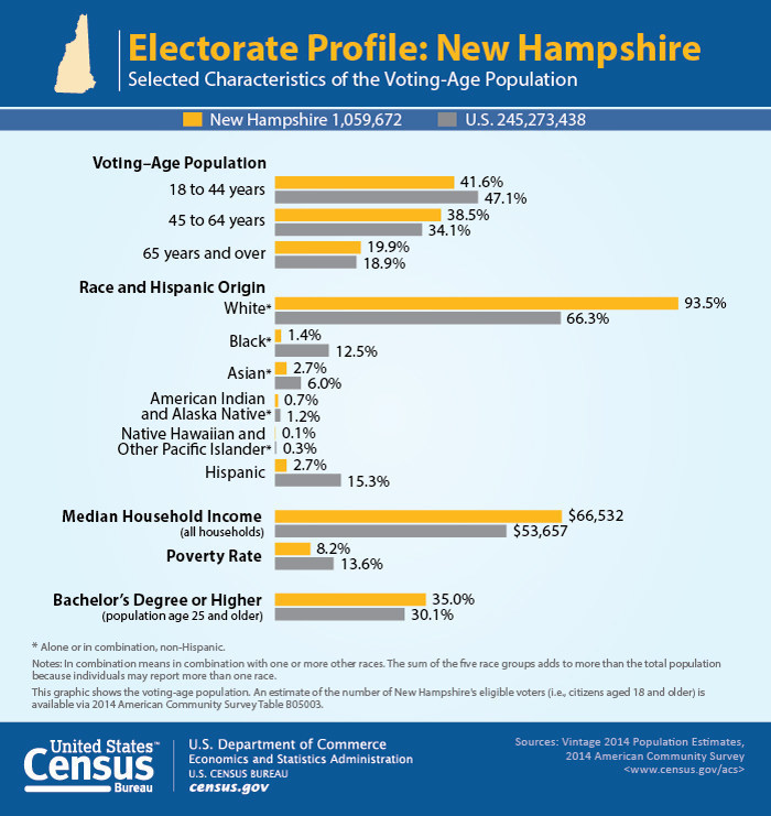 Census Bureau New Hampshire Graphic Infographic