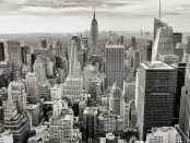 nyc skyline b and w free