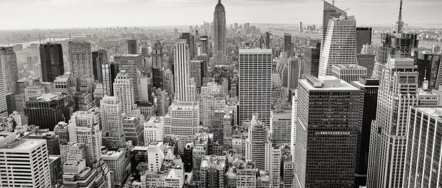 nyc skyline b and w free